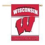 Wincraft -  Wincraft Wisconsin Badgers 27x37 Vertical Flag 0032085010971