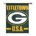 Wincraft -  Green Bay Packers 27x37 Titletown Banner Flag 0032085472038