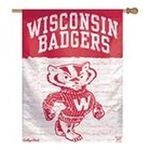 Wincraft -  Wincraft Wisconsin Badgers Tide College Vault 27x37 Vertical Flag 0032085744173
