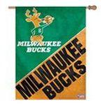 Wincraft -  Wincraft Milwaukee Bucks Hardwood Classics 27x37 Vertical Flag 0032085771940