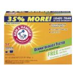 Arm & Hammer -  Powder Laundry Detergent 54 Loads Free Of Perfumes And Dyes 3.57 Pounds 3.57 lb,1.62 kg 0033200065203