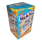 Welch's -  Fruit Snacks Mixed Fruit Fat Free Snacks 80 Pouches Per Box 4.5 lb,2 kg 0034856121237