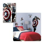York Wallcoverings -  Captain America Movie Peel & Stick Giant Wall Decal 0034878092744