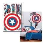 York Wallcoverings -  Captain America Vintage Shield Peel & Stick Giant Wall Decal 0034878092768