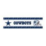 York Wallcoverings -  nEw NFL DALLAS COWBOYS Football Decor WALL BORDER ROLL 0034878218441