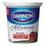 Dannon -  Yogurt Lowfat Plain 0036632002020