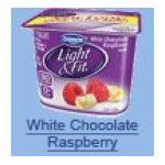Dannon -  Light & Fit Nonfat White Chocolate Raspberry Yogurt 0036632006677