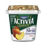 Activia - Dannon Selects Parfait Crunchy & Creamy Peach Nonfat Yogurt 0036632032102  / UPC 036632032102