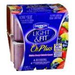 Dannon -  Light N Fit Yogurt 0% Plus Blueberry 4 ct 0036632035431