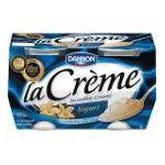 Dannon -  La Creme Yogurt Vanilla 0036632045003