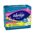 Always - Maxi Fresh Clean Fresh Scent Regular Pads 12x22 22 pads 0037000029182  / UPC 037000029182