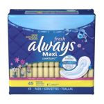 Always - Regular Pads Fresh Scent 45 pads 0037000029205  / UPC 037000029205