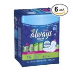 Always - Maxi Pads 12 pack 0037000029212  / UPC 037000029212