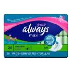 Always - Long+super Pads With Wings Fresh Scent 28 pads 0037000029229  / UPC 037000029229