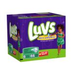 Luvs - Ultra Leakguards Diapers Size 6 35 lb, 66 diapers 0037000050797  / UPC 037000050797