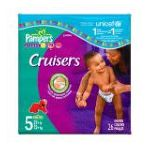 Pampers - Cruisers Diapers Size 5 26 diapers 0037000064039  / UPC 037000064039