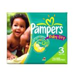 Pampers - Baby Dry Size 3 Diapers Conv. Pack 28 lb, 28 diapers 0037000067511  / UPC 037000067511