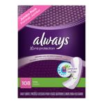 Always - Xtra Protection Daily Liners Jumbo Pack 108 pantiliners 0037000075509  / UPC 037000075509