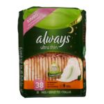 Always - Ultra Thin Pads Overnight With Wings Unscented 0037000075530  / UPC 037000075530
