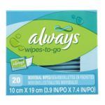 Always - Wipes-to-go Lightly Scented 0037000114314  / UPC 037000114314