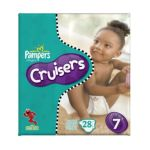 Pampers - Cruisers Diapers Mega Pack Size 7 28 diapers 0037000119111  / UPC 037000119111