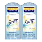 Secret - Invisible Solid Antiperspirant & Deodorant Twin Pack Spring Breeze 0037000124344  / UPC 037000124344