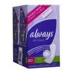 Always - Xtra Protection Daily Liners Double Pack Unscented Long 80 pantiliners 0037000142164  / UPC 037000142164
