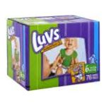 Luvs - Diapers 35 lb, 76 diapers 0037000152774  / UPC 037000152774