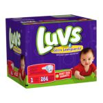 Luvs - Diapers With Ultra Leakguards Economy Plus Pack Size 1 8 To 14 lb 0037000178330  / UPC 037000178330