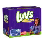 Luvs - Diapers With Ultra Leakguards Economy Plus Pack Size 4 22 To 37 lb 0037000178408  / UPC 037000178408