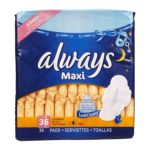 Always - Maxi Overnight With Wings Unscented Pads 0037000179016  / UPC 037000179016