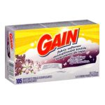 Gain - Fabric Softener Dryer Sheets 105 sheets 0037000180487  / UPC 037000180487