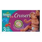 Pampers - Cruisers size 3 80 Diapers 28 lb, 80 diapers 0037000198406  / UPC 037000198406