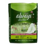Always - Ultra Thin Long+super Pads With Wings Fresh Scent 40 pads 0037000223221  / UPC 037000223221