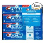 Crest - Pro-health Whitening Toothpaste Pack Of Four 4 Tubes Fresh Mint 0037000236771  / UPC 037000236771