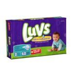 Luvs - Ultra Leakguards Diapers Size 2 18 lb 0037000262237  / UPC 037000262237