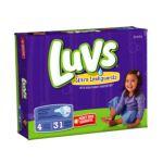 Luvs - Ultra Leakguards Jumbo Pack Size 4 37 lb 0037000262299  / UPC 037000262299