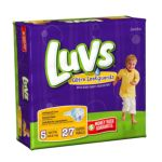 Luvs - Ultra Leakguards Diapers Size 5 4 packs 0037000262305  / UPC 037000262305