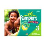 Pampers - Baby Dry Diapers Size 3 28 lb 0037000262473  / UPC 037000262473