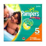 Pampers - Baby Dry Diapers Size 5 27 diapers 0037000262510  / UPC 037000262510