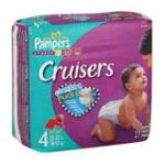 Pampers - Cruisers Diapers Size 4 22 37 lb, 27 diapers 0037000262589  / UPC 037000262589