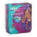 Pampers - Cruisers Comfort Flex-count Size 5 23 diapers 0037000262596  / UPC 037000262596