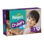 Pampers - Cruisers Diapers Jumbo Pack Size 7 16 diapers 0037000262640  / UPC 037000262640