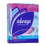 Always - Thin Regular Pantiliners Unscented 162 pantiliners 0037000273318  / UPC 037000273318