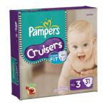 Pampers - Cruisers Diapers Jumbo Pack Size 3 28 lb 0037000278481  / UPC 037000278481