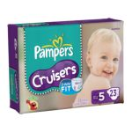 Pampers - Cruisers Diapers Size 5 23 diapers 0037000279402  / UPC 037000279402