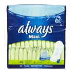 Always - Long+super Maxi Pads Unscented 42 pads 0037000281597  / UPC 037000281597