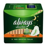 Always - Pads Ultra Thin Flexi-wings Overnight 0037000301653  / UPC 037000301653