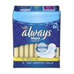 Always - Maxi Pads Regular With Wings Unscented 18 pads 0037000305637  / UPC 037000305637