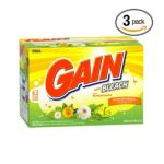 Gain - Powder Detergent With Bleach Outdoor Sunshine Scent Case Pack Three 63-load Boxes 189-loads 0037000330196  / UPC 037000330196